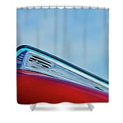 1948 Ford Coupe Sedan Hood Ornament Shower Curtain