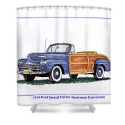 1948 Ford Sportsman Convertible Shower Curtain