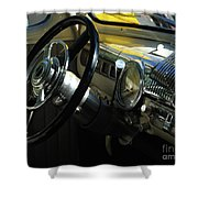 1948 Ford Super Deluxe Dash Shower Curtain