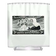 1948 Immortal Chaplains Stamp Shower Curtain