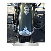 1948 Indian Chief Motorcycle Hood Ornament Shower Curtain