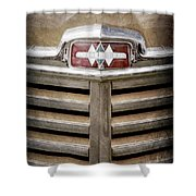 1948 International Hood Emblem -0227ac Shower Curtain