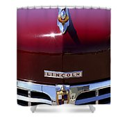 1948 Lincoln Continental Hood Ornament 3 Shower Curtain