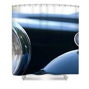 1948 Mg Tc Head Light Shower Curtain