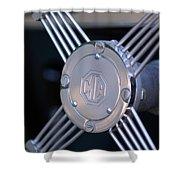 1948 Mg Tc Steering Wheel 2 Shower Curtain