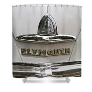 1948 Plymouth Hood Logo Shower Curtain