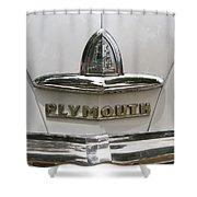 1948 Plymouth Hood Logo Shower Curtain