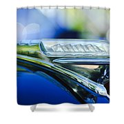 1948 Plymouth Hood Ornament Shower Curtain