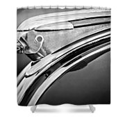 1948 Pontiac Chief Hood Ornament 2 Shower Curtain by Jill Reger