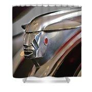 1948 Pontiac Streamliner Woody Wagon Hood Ornament 2 Shower Curtain