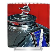 1948 Talbot-lago T26 Record Cabriolet Hood Ornament Shower Curtain
