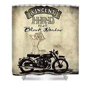 1948 Vincent Black Shadow Shower Curtain