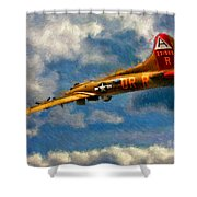 1949 Boeing B-17b Flying Fortress Shower Curtain