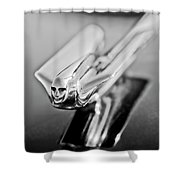 1949 Cadillac Hood Ornament 4 Shower Curtain