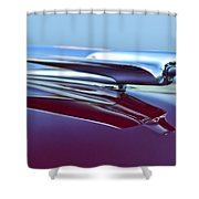 1949 Cadillac Hood Ornament Shower Curtain