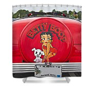 1949 Chevrolet Convertible Betty Boop  Shower Curtain