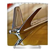 1949 Chevrolet Fleetline Hood Ornament Shower Curtain
