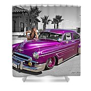 1949 Chevy Bomb_ 25a Shower Curtain