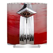 1949 Diamond T Truck Hood Ornament Shower Curtain