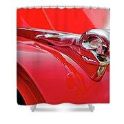 1949 Dodge Truck Hood Ornament Shower Curtain
