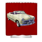 1949 Ford Custom Deluxe Convertible Shower Curtain
