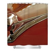 1949 Ford Custom Hood Ornament Shower Curtain