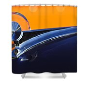 1949 Ford Hood Ornament 5 Shower Curtain