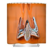 1949 Lincoln Coupe Hood Ornament Shower Curtain