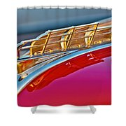 1949 Plymouth Hood Ornament Shower Curtain