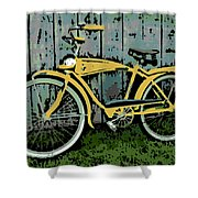 1949 Shelby Donald Duck Bike Shower Curtain