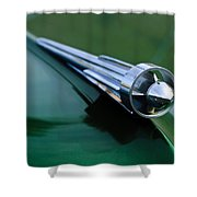 1949 Studebaker Champion Hood Ornament 2 Shower Curtain