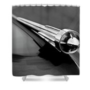 1949 Studebaker Champion Hood Ornament 3 Shower Curtain