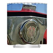 1949 Willys Jeepster Hood Ornament Shower Curtain