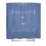 1950 Barbell Patent Spbb04_lb Shower Curtain