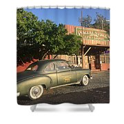 1950 Chevrolet Coupe In Front Of Portal Store Shower Curtain