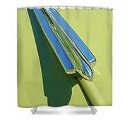 1950 Chevrolet Fleetline Hood Ornament Shower Curtain