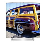 1950 Chrysler Royal Woody Shower Curtain
