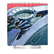 1950 Dodge Coronet Hood Ornament Shower Curtain by Jill Reger
