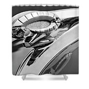 1950 Dodge Ram Hood Ornament Shower Curtain