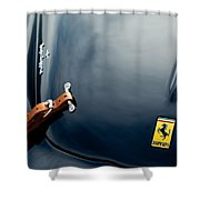 1950 Ferrari Hood Emblem Shower Curtain