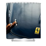 1950 Ferrari Hood Emblem Shower Curtain by Jill Reger