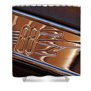 1950 Oldsmobile Rocket 88 Emblem 2 Shower Curtain