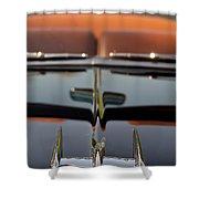 1950 Oldsmobile Rocket 88 Hood Ornament 3 Shower Curtain
