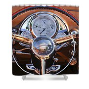 1950 Oldsmobile Rocket 88 Steering Wheel 2 Shower Curtain