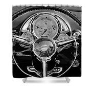 1950 Oldsmobile Rocket 88 Steering Wheel 4 Shower Curtain