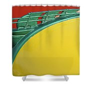 1950 Plymouth Hood Ornament 2 Shower Curtain