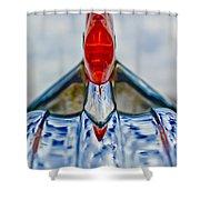 1950 Pontiac Hood Ornament 3 Shower Curtain