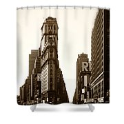1950 Times Square New York Shower Curtain