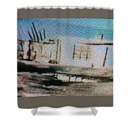 1950's - At The Hopi Village Shower Curtain