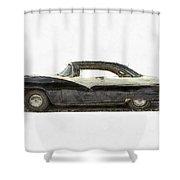 1950s Ford Fairlane Crown Victoria Pencil Shower Curtain